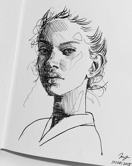 Line Art Wajah : Contoh gambar sketsa wajah dengan pensil paling bagus