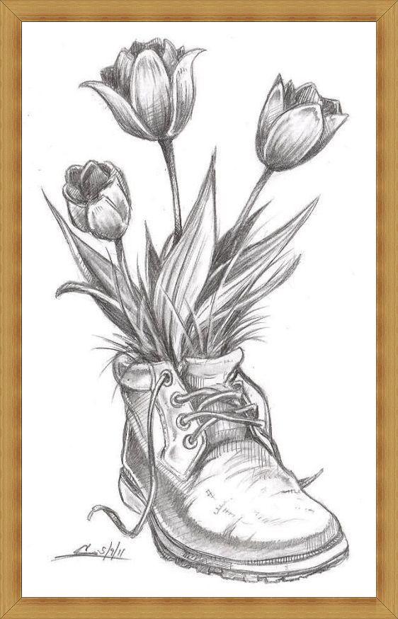 Gambar Sketsa Bunga Lucu