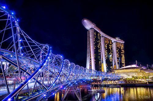 Foto Helix Bridge, Singapura